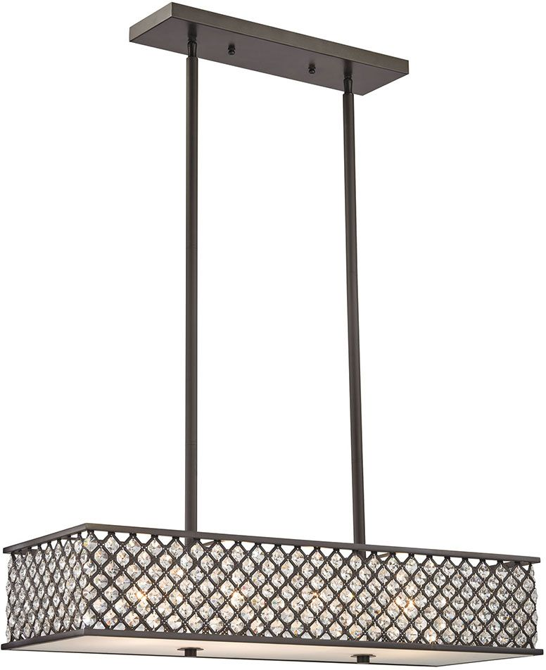 Elk 32103 4 Genevieve Oil Rubbed Bronze Kitchen Island Light