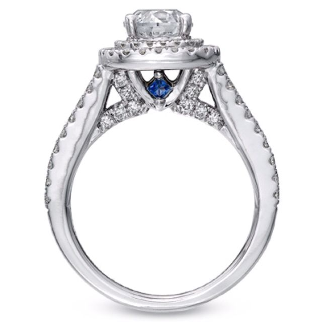 Vera Wang Engagement Ring Love The Blue Sapphires With