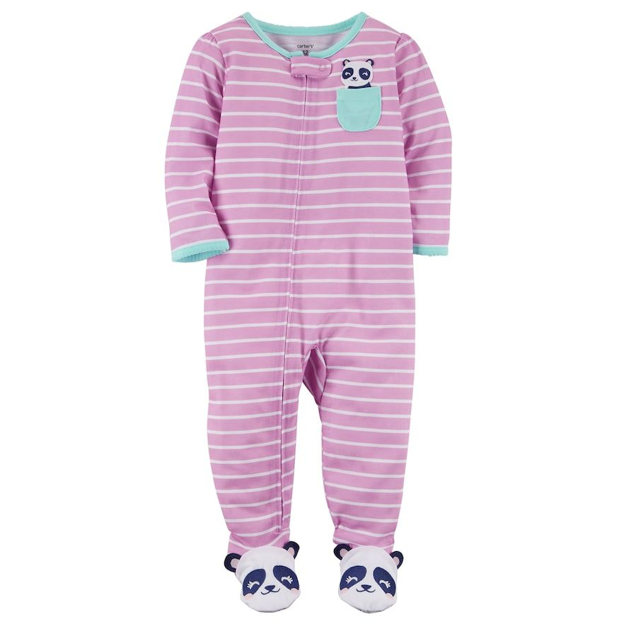 2cd901f49a10 Carter s Toddler Girl Striped Footed Pajamas