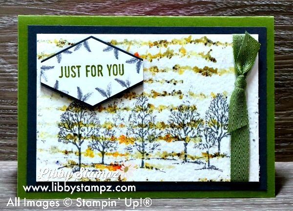 Stamping Techniques – Decorative Masks (Video). Uses Brusho Colour Crystals; Sweet Soiree Decorative Masks; Lovely as a Tree and Tailored Tag Punch