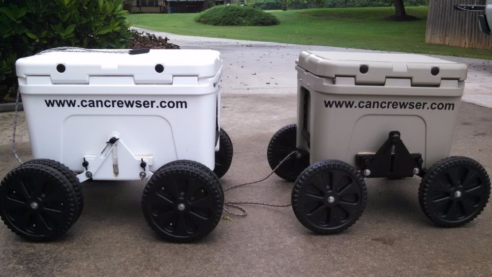 Can Crewser Cooler Caddy Wheels Beach Rolling Cooler For Yeti Igloo Coleman Etc Rolling Cooler Igloo Caddy