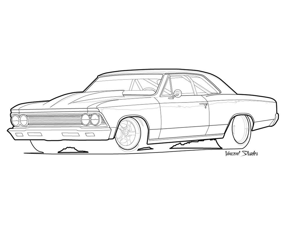 67 Impala Coloring Pages