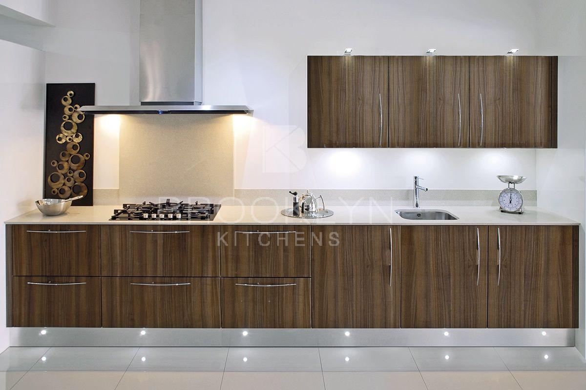 Stunning Modern Glossy Wood Finish Wood Worktop Kitchen Fittings Wood Kitchen