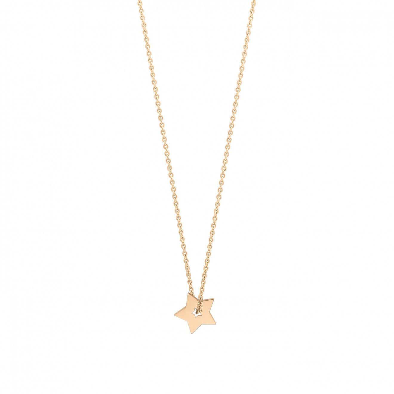 Circle 18-karat rose gold necklace Ginette NY 5KgWg