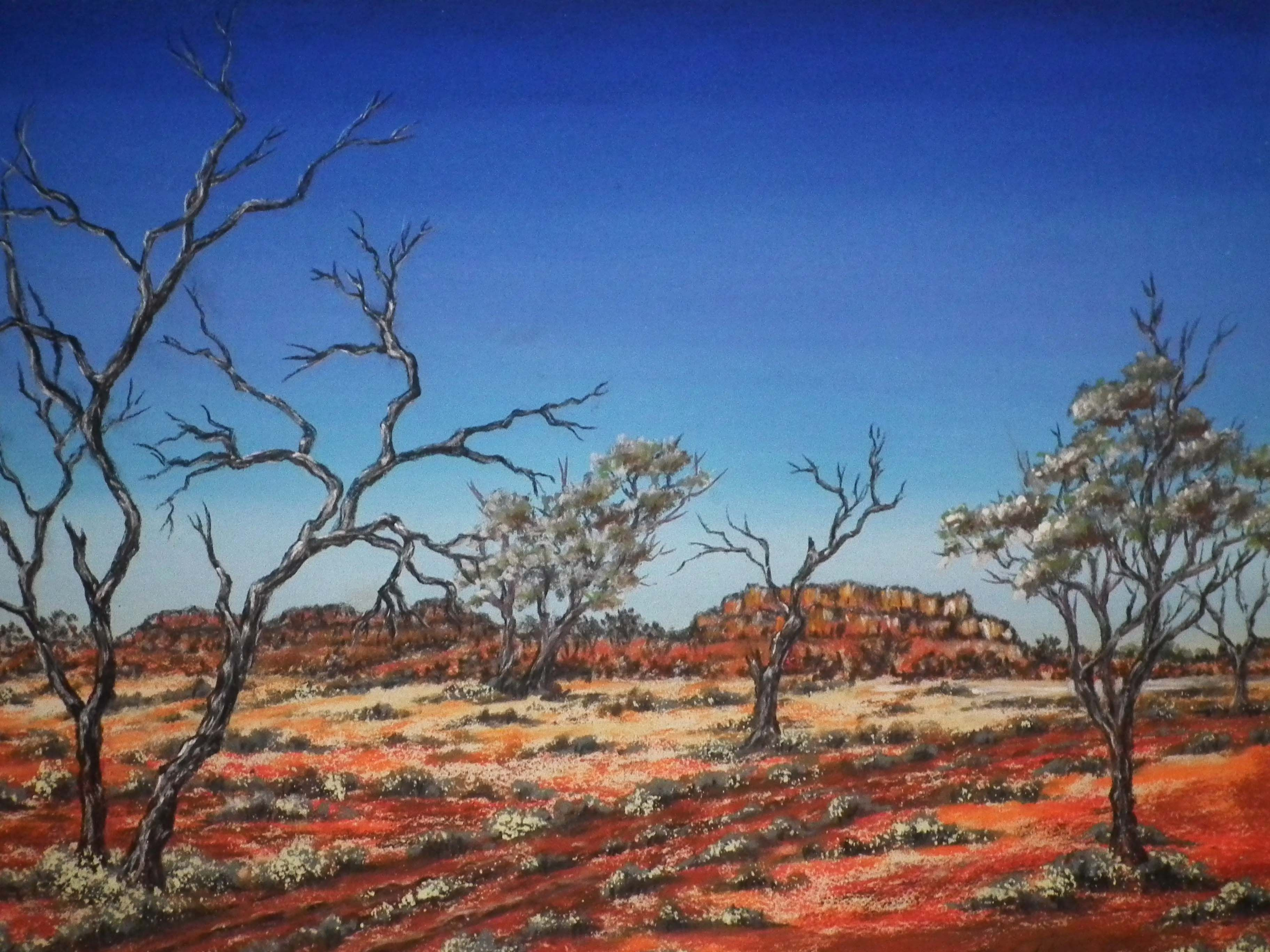Australian Outback Paintings 2 With Images Landscape Paintings