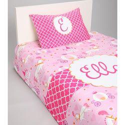 Personalized Princess Toddler Bedding Set Girls Toddler