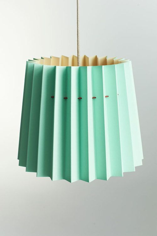 Twintone mint and burgundy lampshade by ollie wood and joff casciani for lane