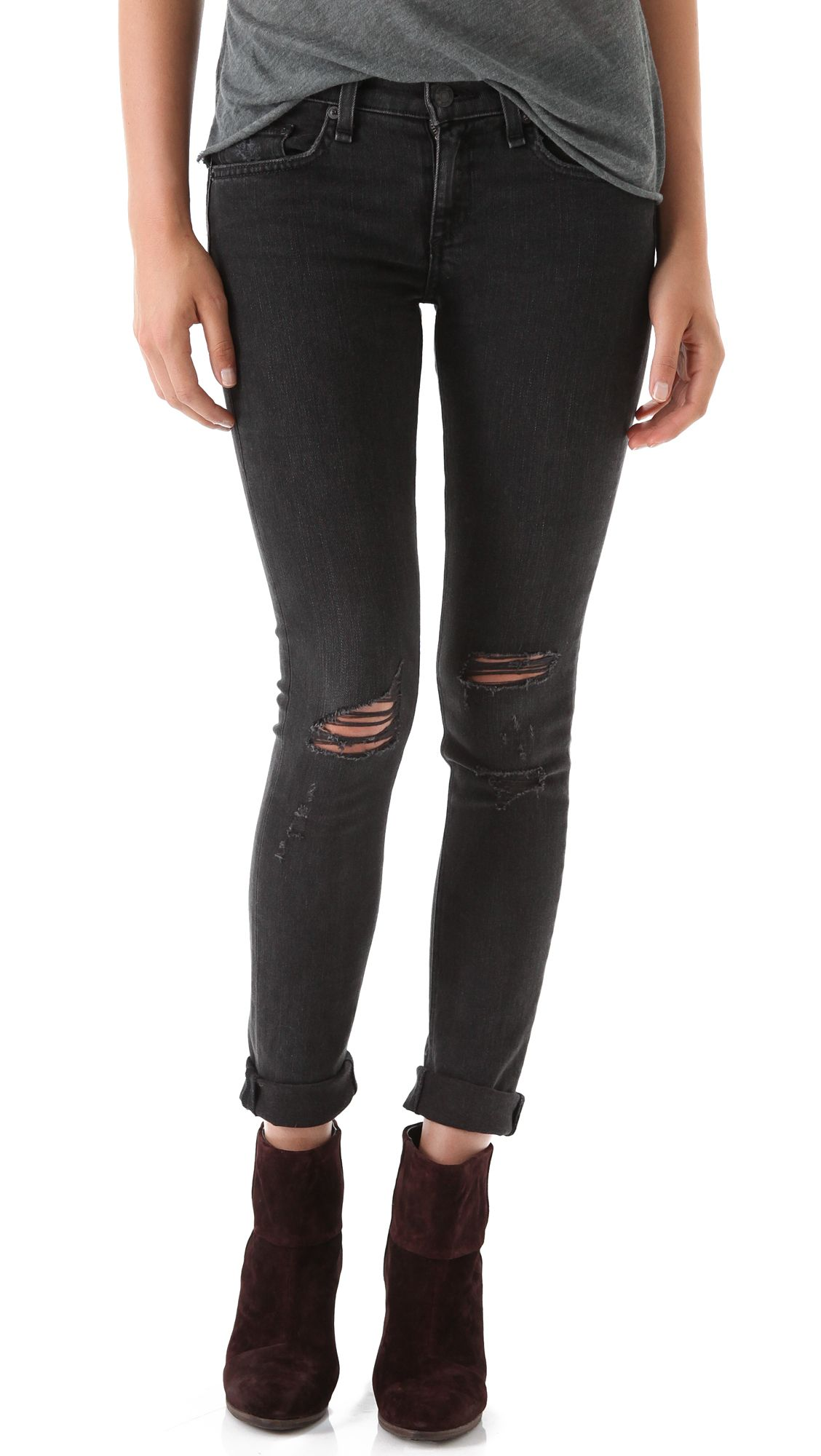 2dabb1f461f5 The Looker Frayed Ankle Jeans in 2019