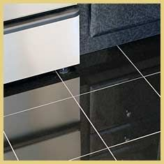 Black Ceramic Tile Flooring