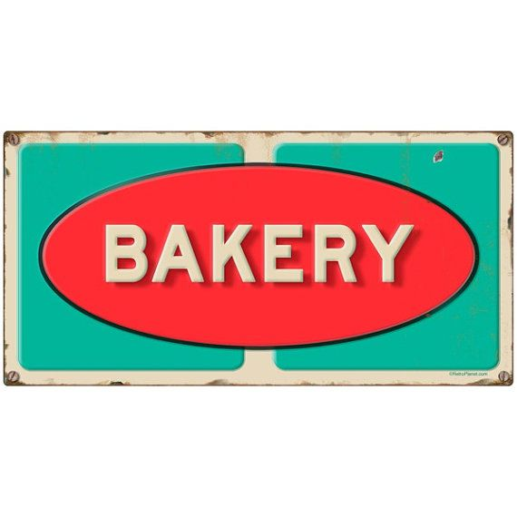 Convenience Store Exterior Accent Wall: Vintage Grocery Store Bakery Wall Decal By RetroPlanetUSA