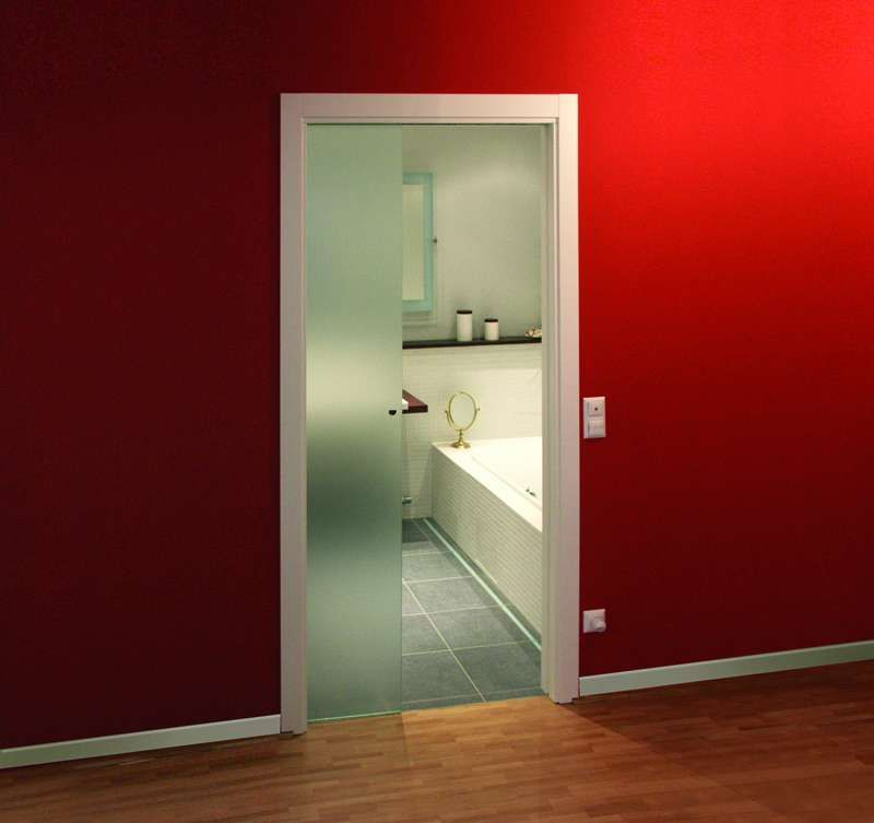 Bathroom pocket doors hardware bathroom sliding door lock for Modern glass pocket doors