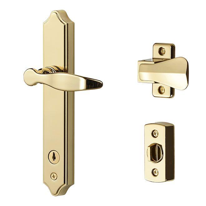 Shop Pella Screen Door And Storm Door Deadbolt Lock At Lowes Com Patio Door Locks Storm Door Storm Door Handle