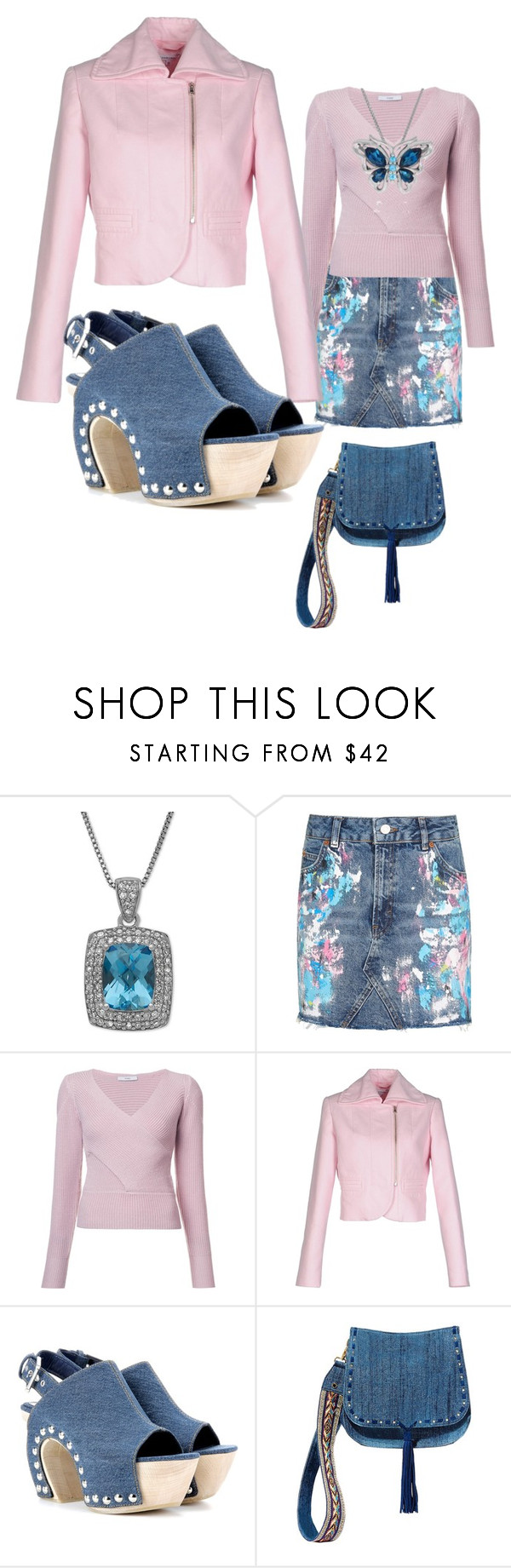 """Pink n Blue"" by angeladt-1 ❤ liked on Polyvore featuring Topshop, Tome, Carven, Alexander McQueen, Steve Madden and Belk & Co."