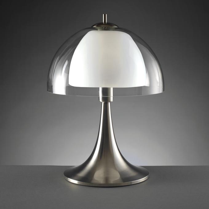 Lampada 39 vintage 39 o978 lampada da tavolo vintage in vetro trasparente e metallo dimensioni - Lampada da tavolo vintage ...