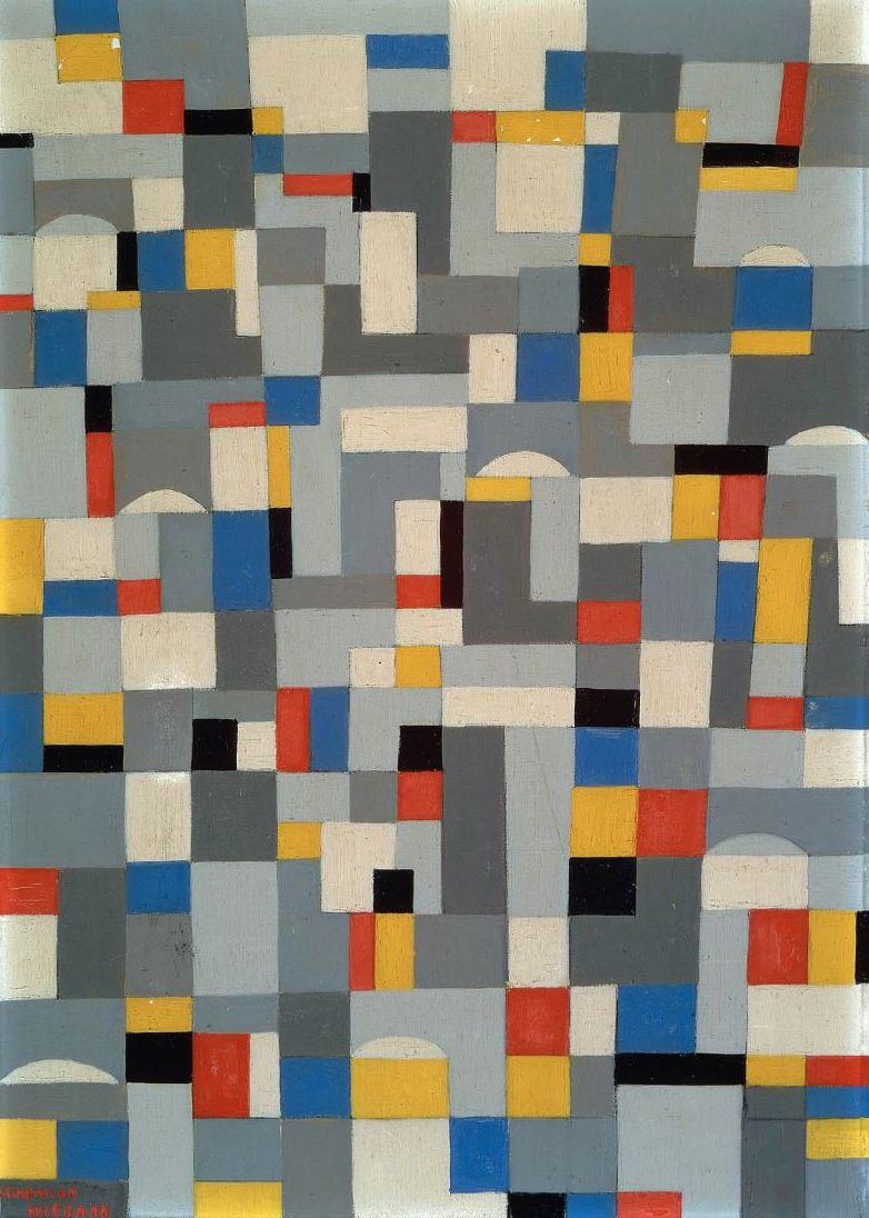 City Rhythm 1948 Painting By Charmion Von Wiegand Oil Painting Rhythm Art Abstract Art Projects Principles Of Art