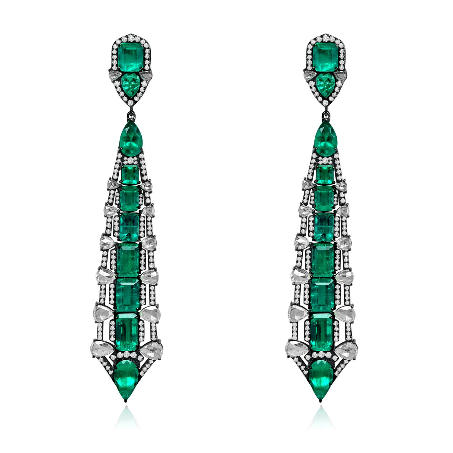 Emerald And Diamond Earrings Sutra mrDLEfSJe