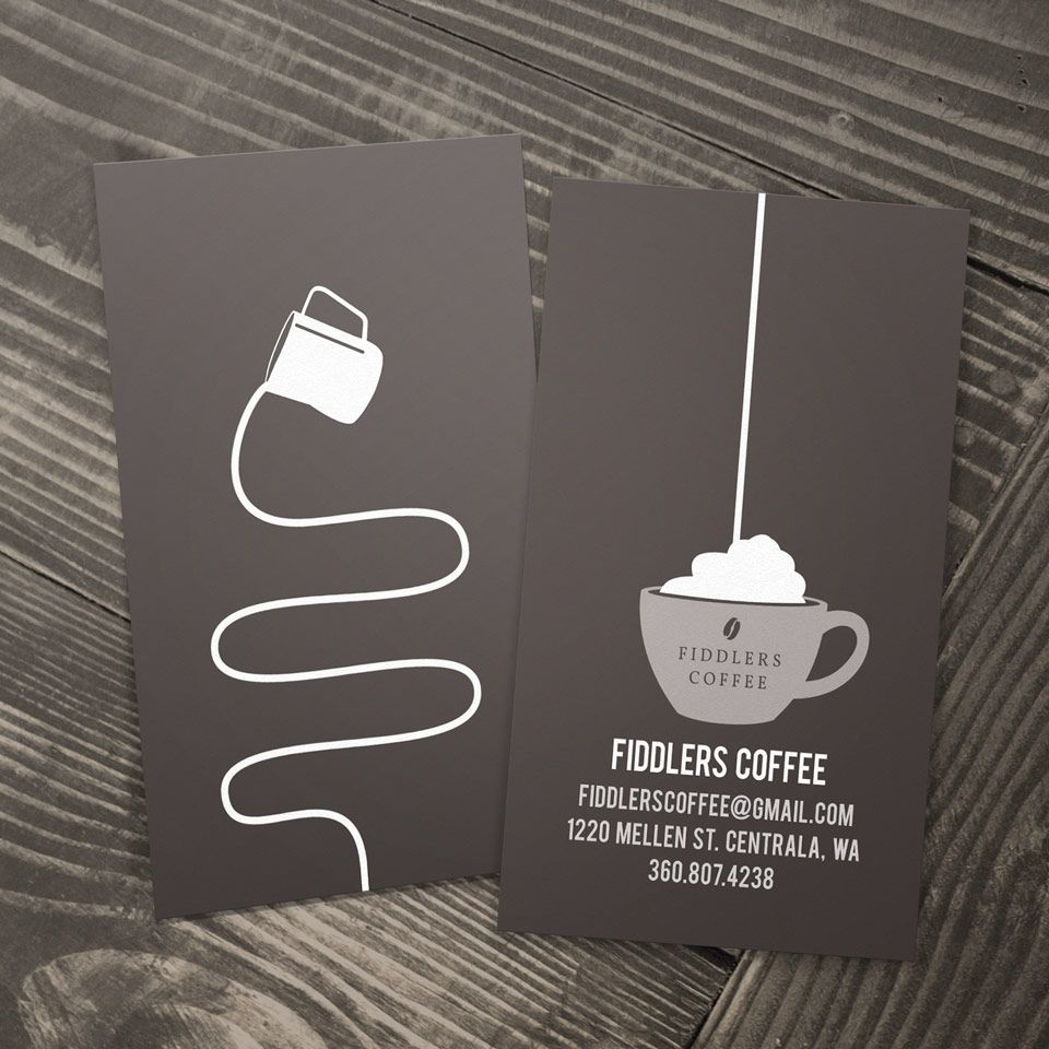 Fiddlers Coffee - business card design | Beautiful Business Cards ...