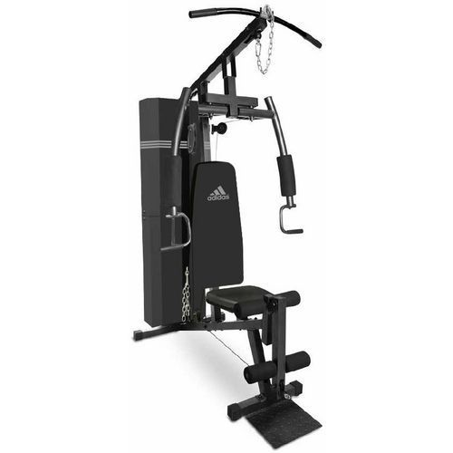 Adidas home gym with 125 lb weight stack fitness equipment weight