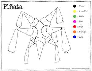 photo regarding Free Printable Spanish Color Worksheets identified as Spanish Xmas Colour as a result of Range Spanish for Small children