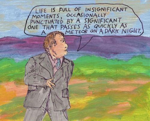Life is full of insignificant moments, occasionally punctuated by a significant one that passes as quickly as a meteor on a dark night. – Michael Lipsey