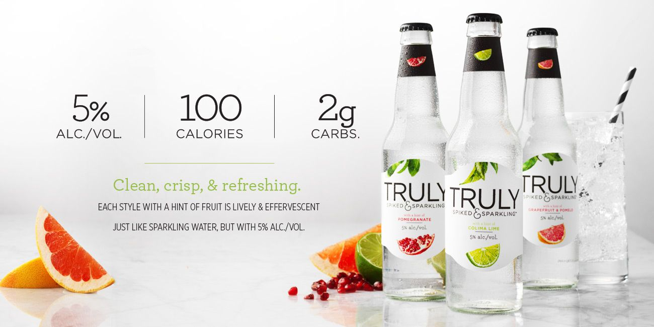 Truly spiked sparkling clean crisp refreshing cocktails for Sparkling water mixed drinks
