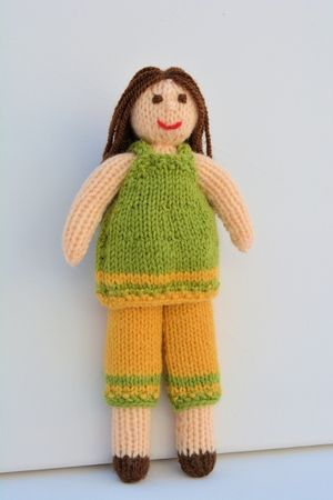Daisy Rag Doll A Knitted Rag Doll Beginners Knitting Pattern