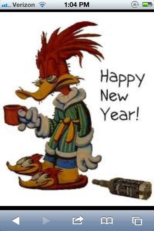 Woody Woodpecker Had A Happy New Years Eve Coffee Jokes Funny Good Morning Quotes Funny Quotes