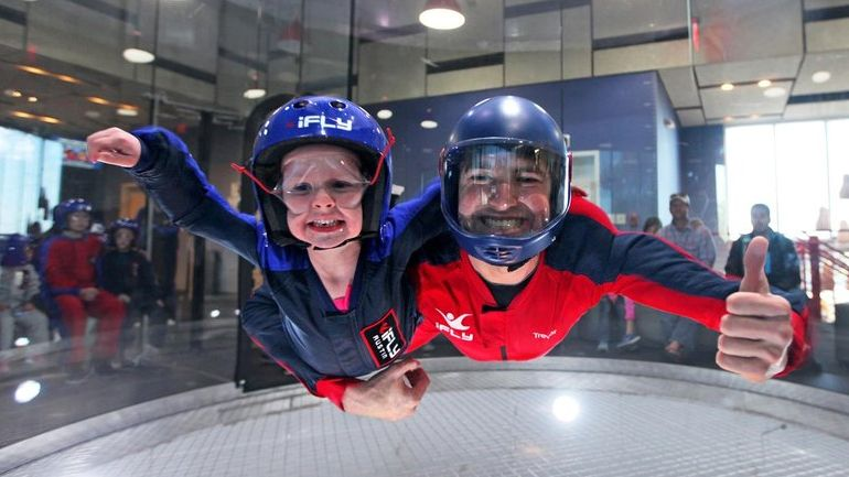 to The Avenue at White Marsh Indoor skydiving