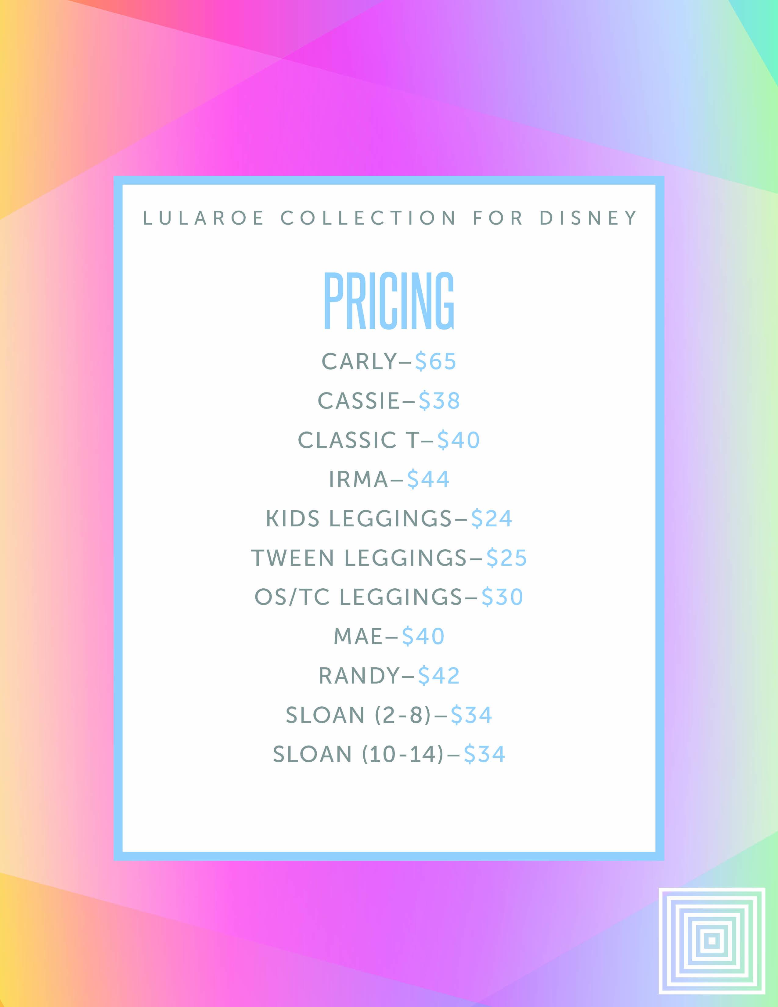 e20120f32e402a Disney pricing Lularoe | Lularoe | Lularoe disney pricing, Disney ...