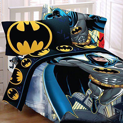 batman twin bedding set rooftop superhero comforter sheets batman