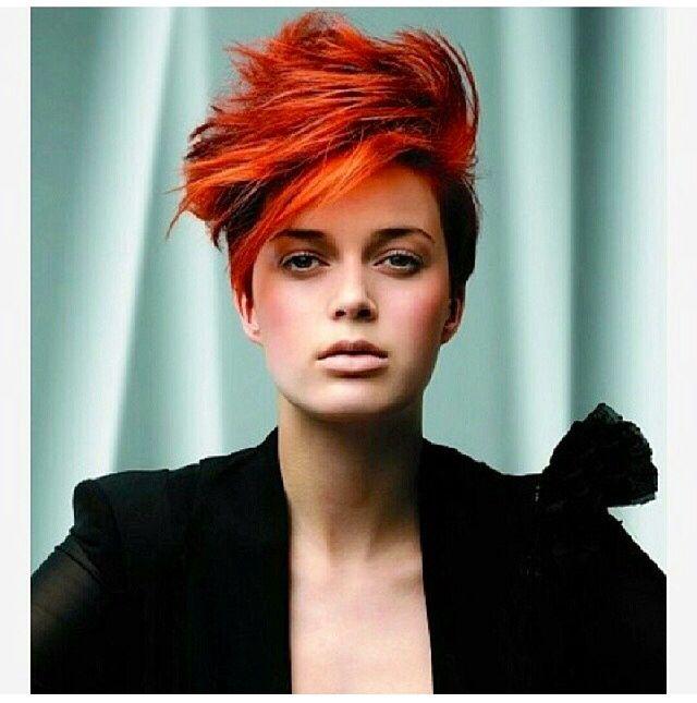 Badass long pixie! Cheveux courts funky, Idée couleur