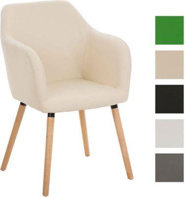 Besucher Design-Stuhl PICARD, Holzgestell, Sitzfläche gut - esszimmer modern beige