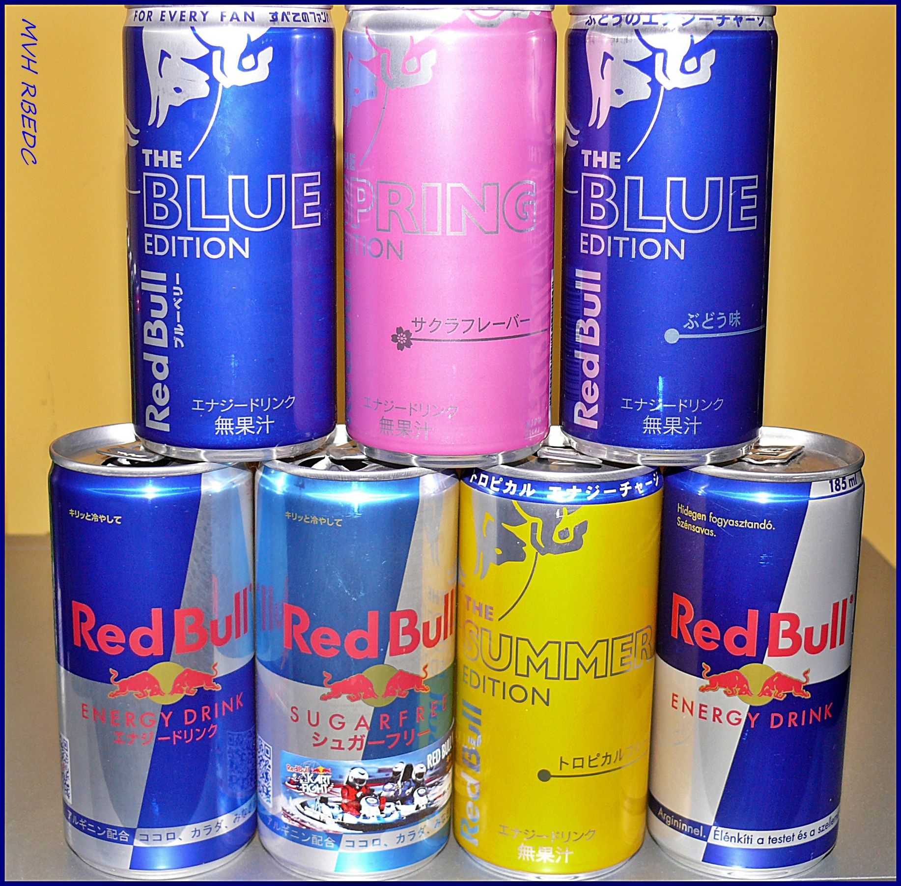 185ml set japan hungary red bull limited edition cans. Black Bedroom Furniture Sets. Home Design Ideas