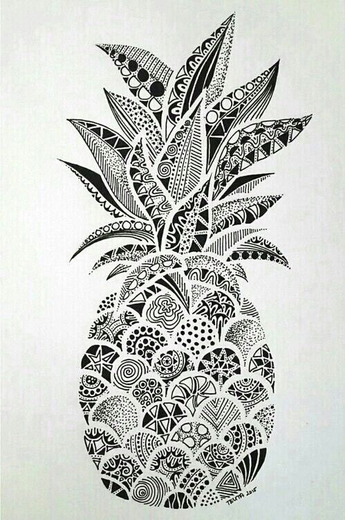imagen de wallpaper pineapple and ananas zentangle art pinterest tattoo doodles and. Black Bedroom Furniture Sets. Home Design Ideas