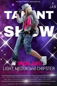Talent Show Free Poster Templates Event Flyer Templates Talent