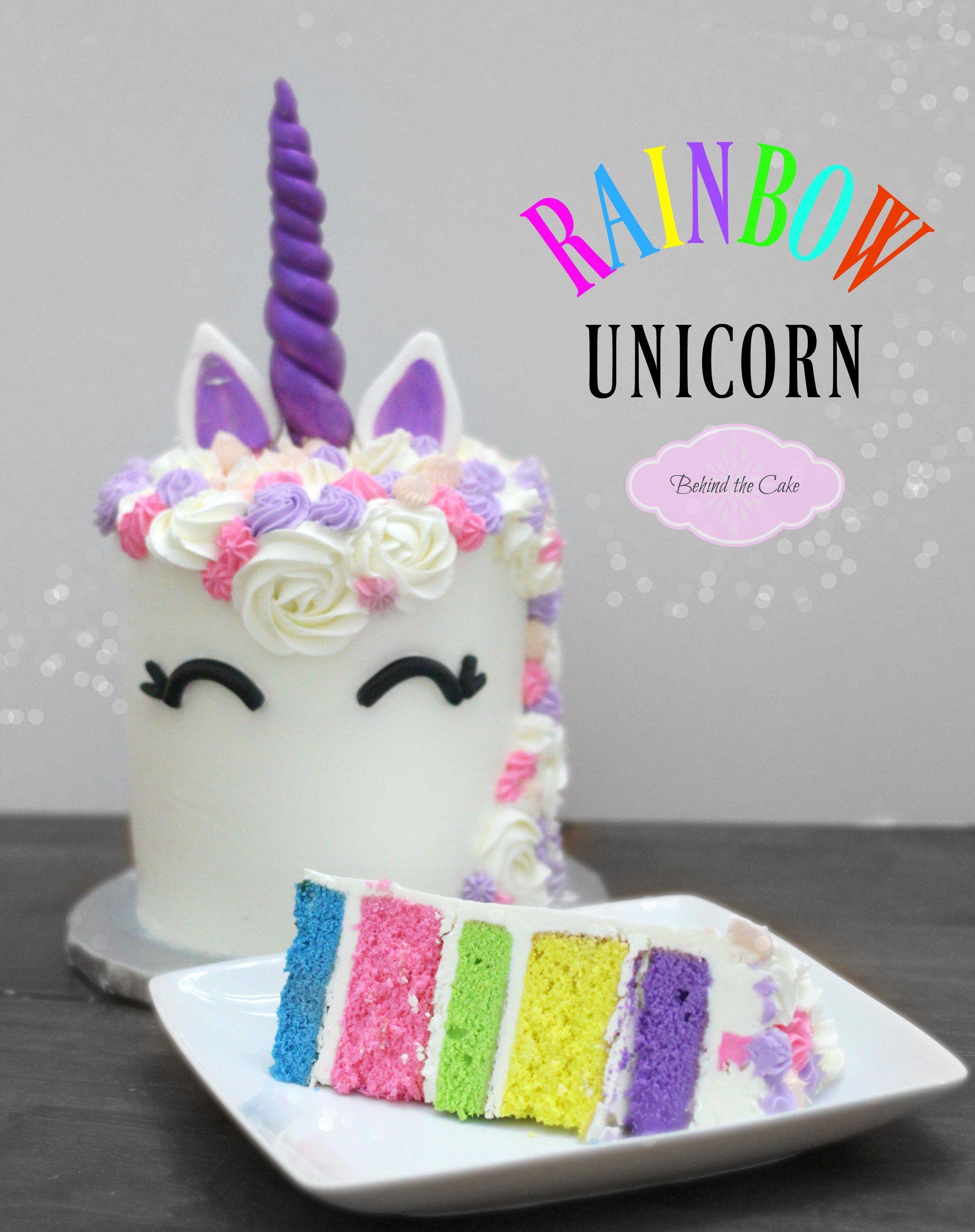How To Make A Rainbow Unicorn Cake Diy Unicorn Cake Unicorn