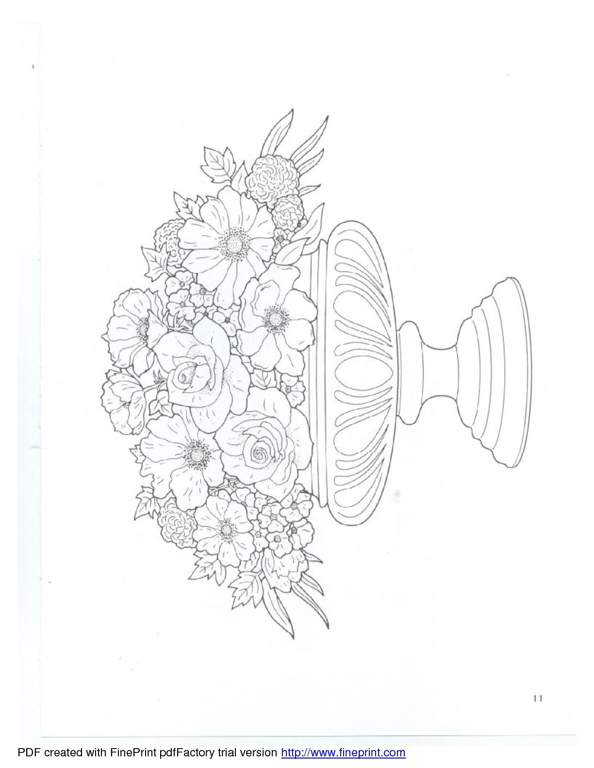 Dover Floral Bouquets Coloring Book Flower Drawing Coloring Pages Colouring Pages