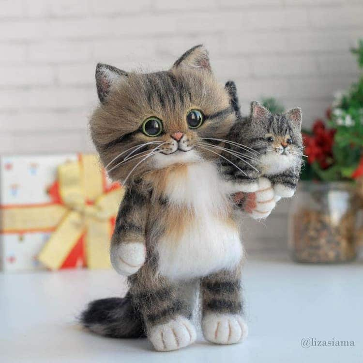 My Modern Met On Twitter In 2020 Animals Felt Cat Pet Portraits