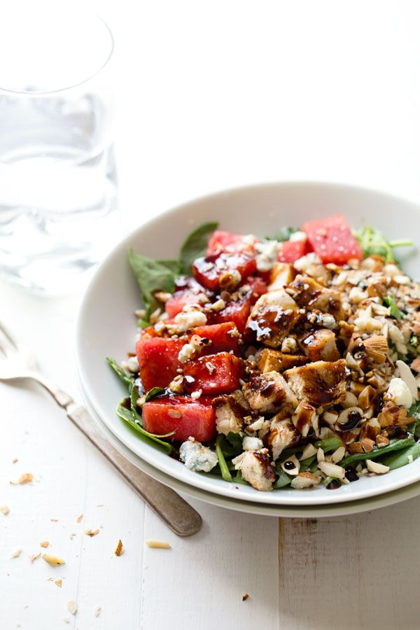 balsamic watermelon chicken salad.