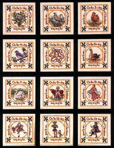 Teresa Wentzler - The 12 Days of Christmas   Cross stitch ...