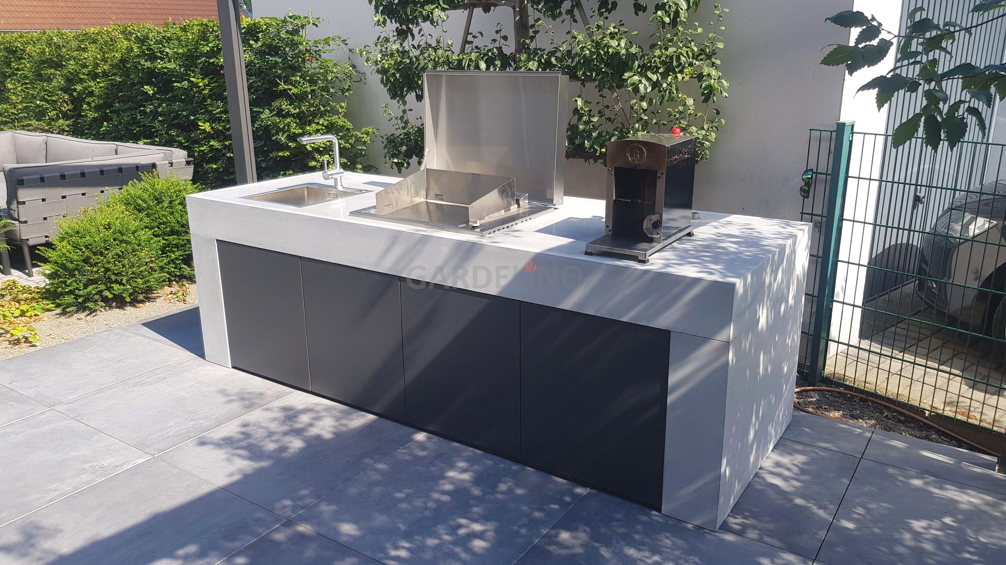 design-outdoor küche aus beton en 2020 | plancha
