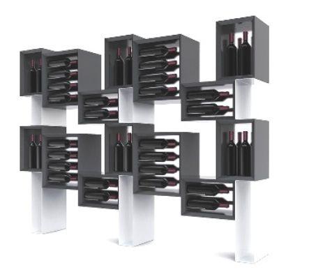 Esigo 5 floor mueble de madera para vino cavas y vinos for Mueble vinos