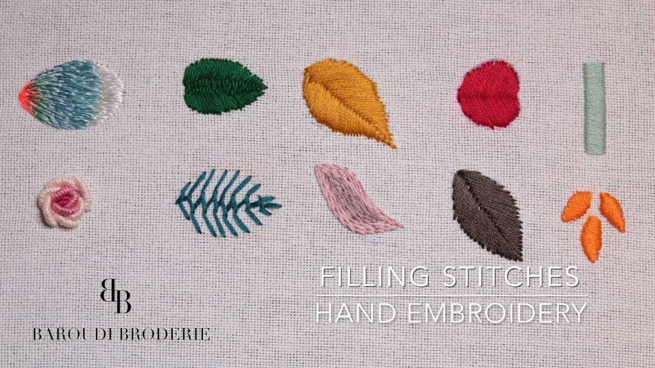 Hand Embroidery For Beginners Part 2 10 Basic Filling Stitches