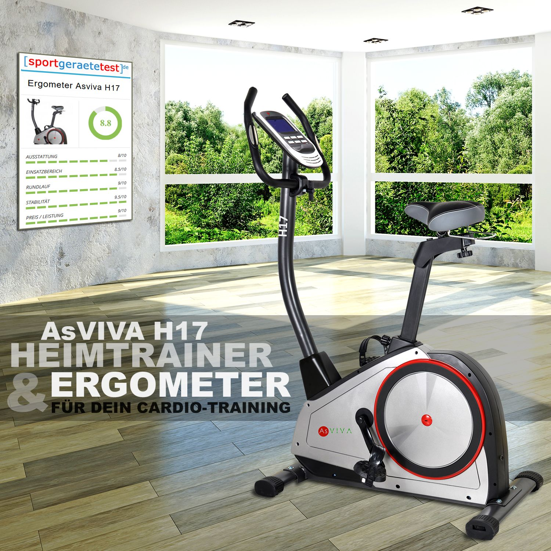 Asviva Heimtrainer Ergometer H17 Ergometer Cardio Training