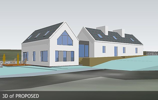 3d of proposed cap cottage a house in ireland 2 story house plans ireland