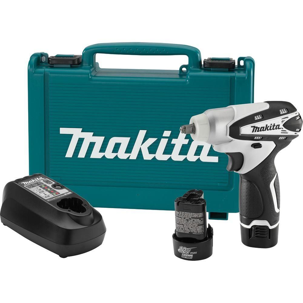 Makita 12 Volt Max Lithium Ion 3 8 In Cordless Square Drive Impact Wrench Kit Cordless Drill Reviews Makita Impact Wrench