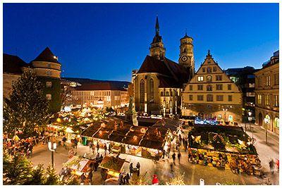 Christmas In Stuttgart Germany.Germany At Christmas Christmas Market In Stuttgart