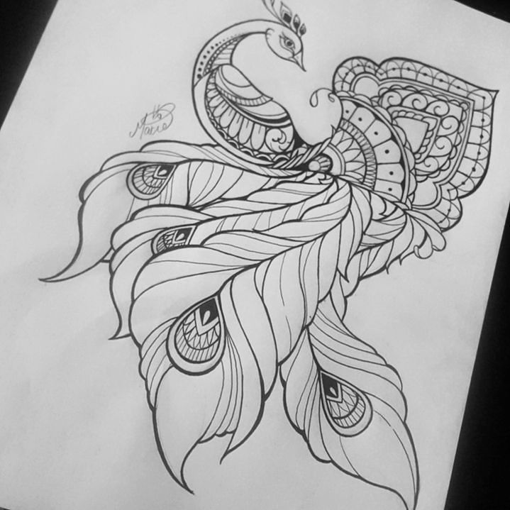 Color or Black and white?? #peacocktattoo #peacock #mandala #mandalatattoo #mandalatattoos #frictiontattoo #blackworkerssubmission #iblackwork #watercolortattoo #abstracttattoo #trinidadandtobago #MAXIEDAYALLDAY by inkpandemictattoos