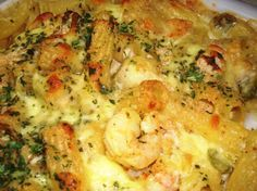 Cajun Macaroni and Cheese With Shrimp