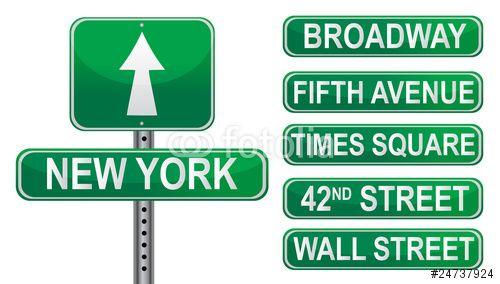 Vector: New York Street signs